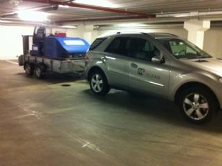 Rengøring af parkeringskælder med M2Clean